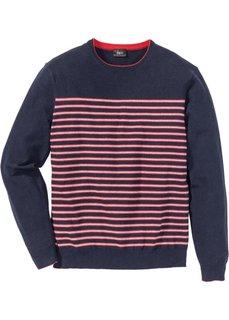 Пуловер Regular Fit в полоску (темно-синий в полоску) Bonprix
