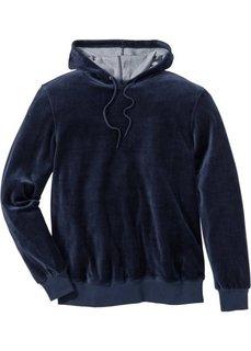 Бархатистый свитшот Regular Fit (темно-синий) Bonprix