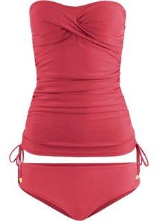 Купальный костюм-танкини (2 изделия) (ягодный) Bonprix