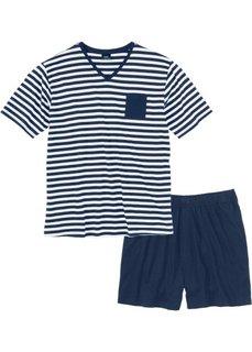 Пижама (темно-синий/белый в полоску) Bonprix