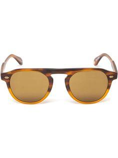 матовые солнцезащитные очки в круглой оправе Garrett Leight