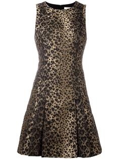 расклешенное платье с леопардовым узором Michael Michael Kors