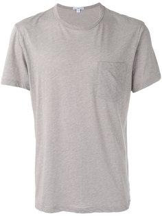 футболка с нагрудным карманом James Perse
