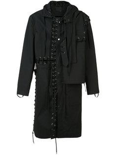 пальто с панельным дизайном со шнуровкой Craig Green