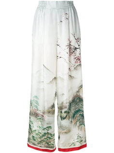 широкие брюки с принтом-пейзажем F.R.S For Restless Sleepers