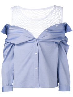 рубашка с сетчатым топом Sandy Liang