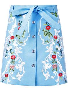 мини-юбка с цветочным узором Vivetta