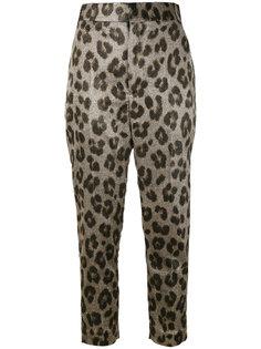 зауженные брюки с леопардовым принтом Haider Ackermann