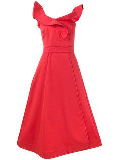 платье с запахом без рукавов с оборками Vika Gazinskaya