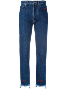 узкие джинсы с асимметричным низом Forte Couture