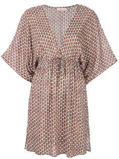 платье с цветочным узором и V-образным вырезом Tory Burch