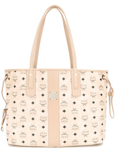 сумка-шоппер с принтом логотипа MCM