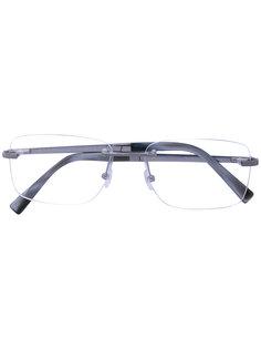 классические очки прямоугольной формы Ermenegildo Zegna