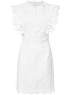 платье с оборками и английской вышивкой Sea