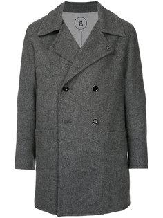 двубортное пальто Anrealage