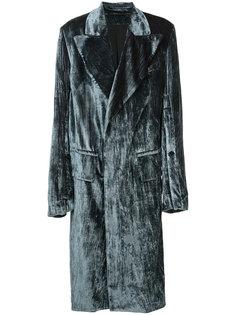объемное бархатное пальто Ann Demeulemeester