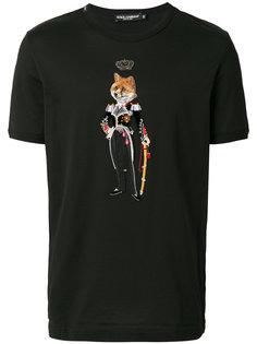 футболка Royal Pet Portrait Dolce & Gabbana