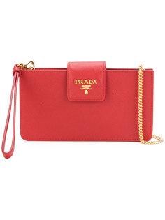 сумка через плечо с откидным клапаном Prada