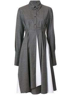 платье-рубашка со складками  Jil Sander Navy