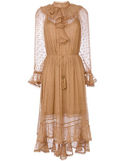платье с оборкой на вороте  Zimmermann