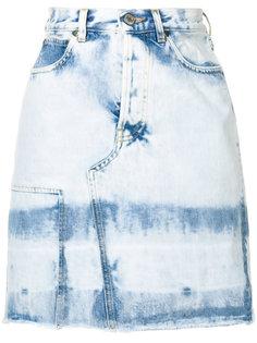 "джинсовая мини-юбка с эффектом ""варенки"" 80s Golden Goose Deluxe Brand"