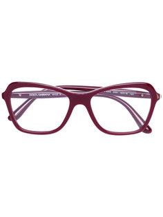 очки в оправе прямоугольной формы Dolce & Gabbana Eyewear