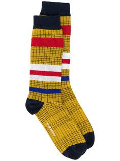 клетчатые носки с полосками Henrik Vibskov