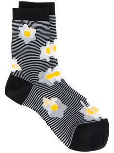 полосатые носки Flora Henrik Vibskov