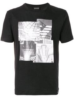 футболка с фотографическим принтом Emporio Armani