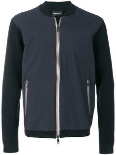 куртка-бомбер с контрастными рукавами Emporio Armani