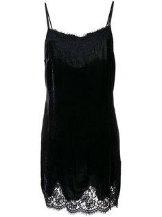 платье с кружевной отделкой  Ermanno Ermanno