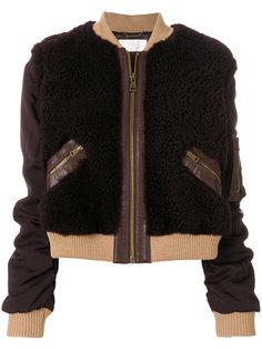 куртка-бомбер с контрастной отделкой  Chloé