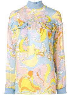 блузка с отворотной горловиной Emilio Pucci