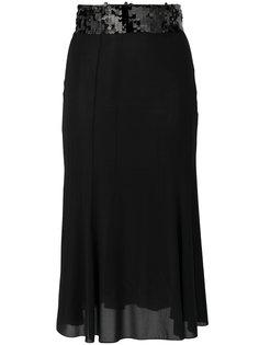 юбка с отделкой пайетками  Dolce & Gabbana