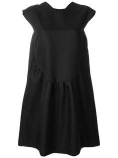 платье шифт со сборками Rochas