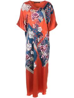 платье-кафтан в стиле пэчворк Natori