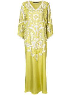 платье-кафтан с вышивками Natori