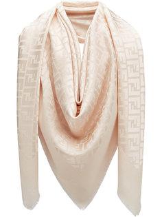 шарф с принтом монограмм Fendi