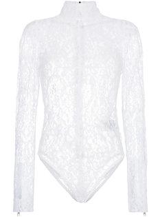 приталенное кружевное боди  Givenchy