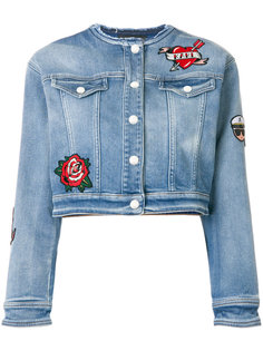 джинсовая куртка с нашивками Karl Lagerfeld