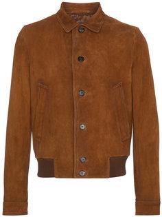 замшевая куртка-бомбер  Prada