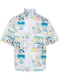 рубашка с принтом комиксов Prada
