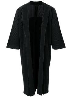 длинное плиссированное пальто Homme Plissé Issey Miyake
