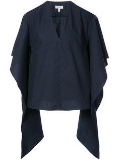 приталенная блузка с рукавами с драпировкой  Delpozo