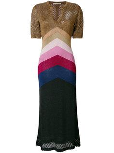 платье дизайна колор-блок с люрексом Marco De Vincenzo