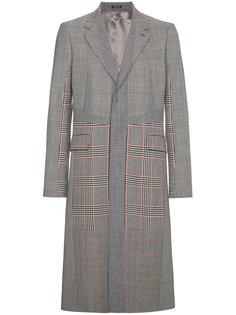 однобортное пальто в клетку Alexander McQueen