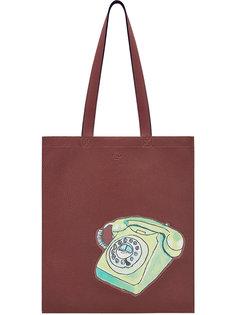 сумка-тоут с принтом Fendi