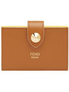 кошелек-визитница на кнопке Fendi