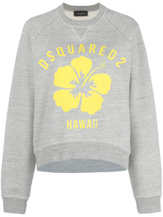 Hawaii flower print sweatshirt Dsquared2