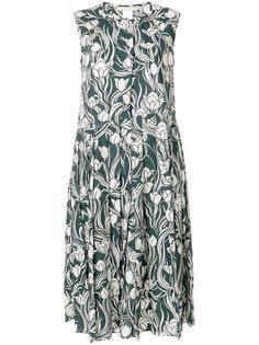 платье миди с цветочным принтом S Max Mara